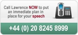 Call us to discuss a way forward for your speech