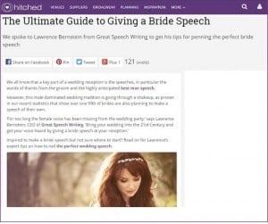 Hitched bride speech article