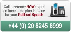 Call us in confidence to discuss your political speech on 020 8245 8999