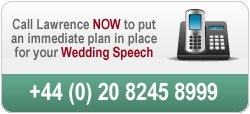 Call us to discuss your wedding speech on 020 8245 8999