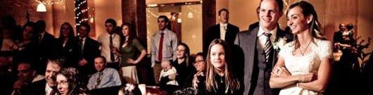 Crowd listening to a social speech