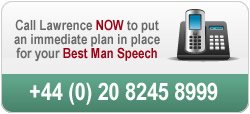 Call us to discuss your best man speech on 020 8245 8999