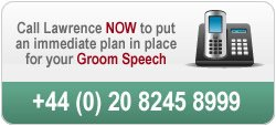 Call us to discuss your groom speech on 020 8245 8999
